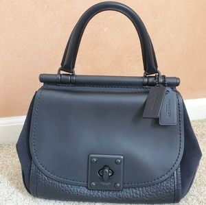 Coach Drifter black leather/suede top handle bag